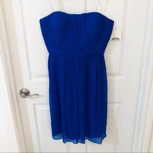 NWT Donna Morgan Royal Blue Strapless Dress